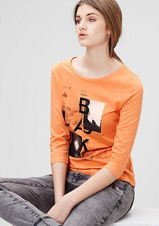 Jerseyshirt mit filigranem Print