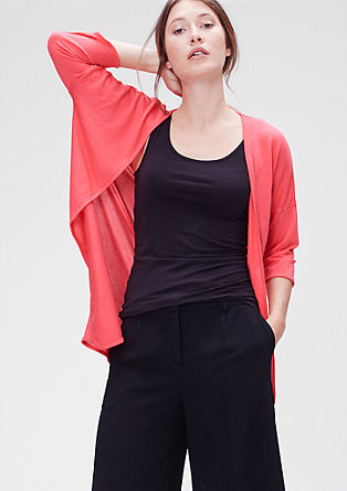 Lightweight jersey cardigan from s.Oliver
