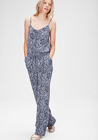 Viscose jumpsuit with a paisley print from s.Oliver