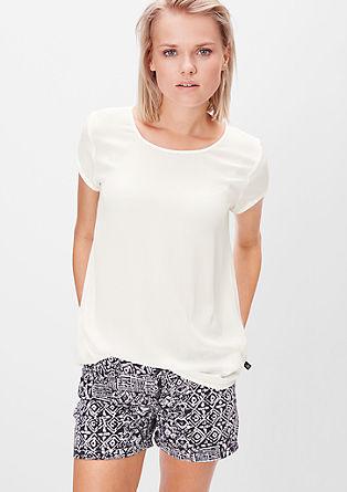 Shirt van viscose-crêpe