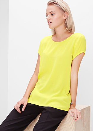 Viscose crepe blouse top from s.Oliver