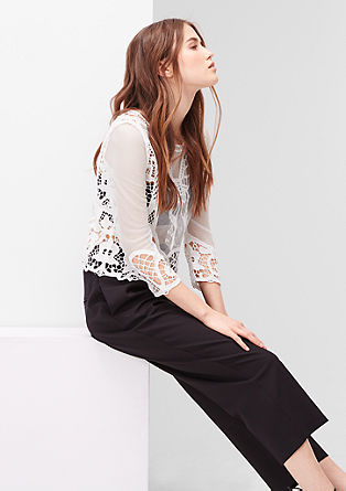 Mixed fabric blouse from s.Oliver