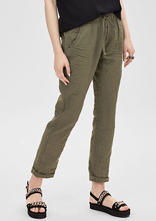Boyfriend: trousers with a cold pigment dye effect from s.Oliver