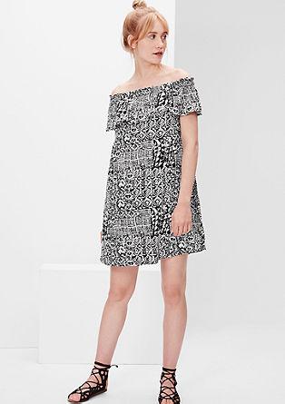 Carmen-Kleid mit Fantasy-Print