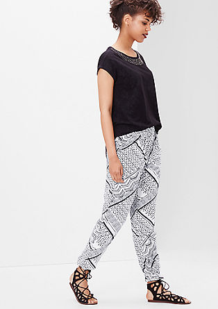 Casual broek met print all-over