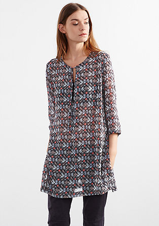 Patterned chiffon tunic from s.Oliver