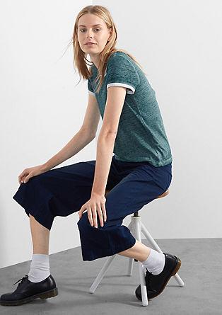 Majica s kontrastno paspulo