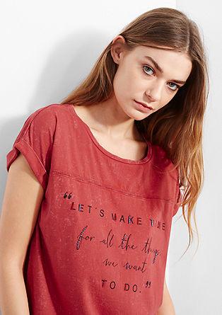 Shirt mit schmaler Lochstickerei