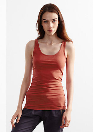 Longline top in stretch cotton from s.Oliver