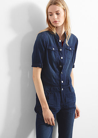 Overall in dunkler Denim-Optik