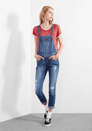 Dungarees in stretchy vintage denim from s.Oliver