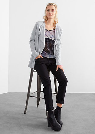 Cardigan with a cowl lapel from s.Oliver
