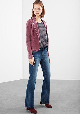 Bootcut: jeans hlače v obrabljenem videzu