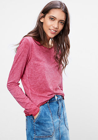 Flammgarnshirt in Garment Dye
