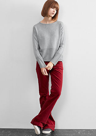 Jumper with a ribbed hem from s.Oliver
