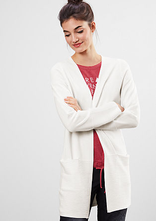 Long cardigan with textured pattern from s.Oliver