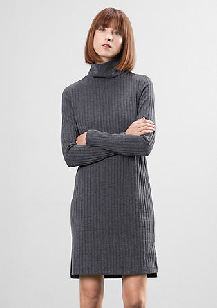 Lightweight ribbed dress with a turtleneck from s.Oliver