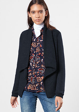 Sweatshirt jacket in an inside-out look from s.Oliver