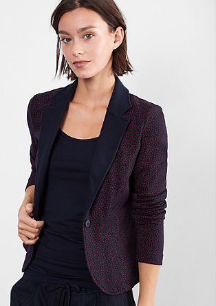 Comfortable sweat blazer from s.Oliver