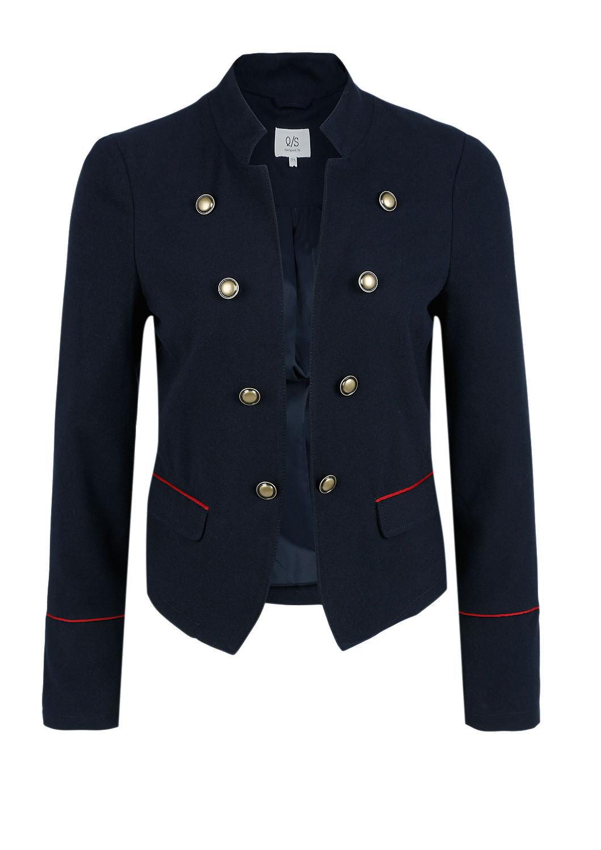 impressionen damen jacke blazer im military look qs by s. Black Bedroom Furniture Sets. Home Design Ideas