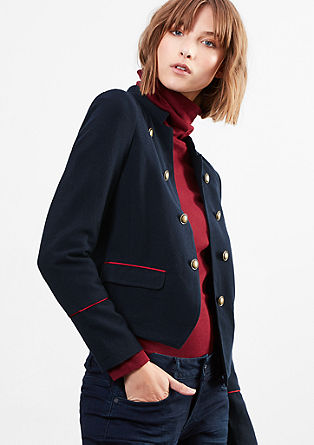 Korte blazer in military-style