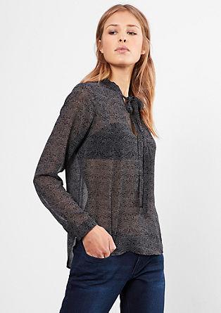 Bluza s trakom in potiskom po vsej površini