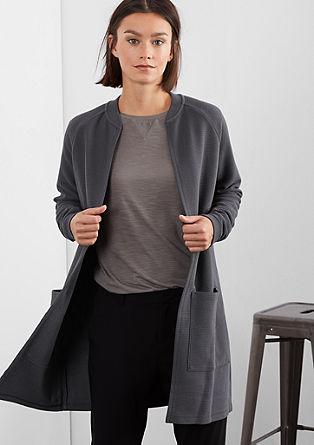 Lange Shirtjacke mit Struktur