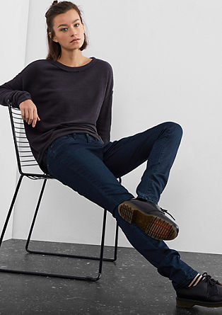 Super Skinny: Washed coloured jeans from s.Oliver