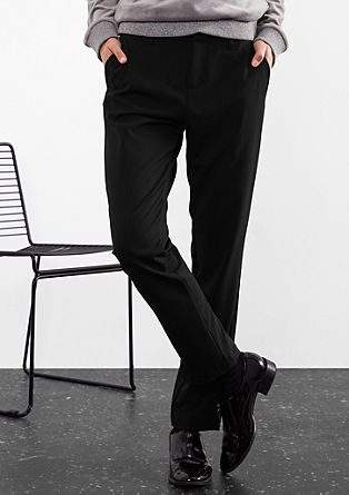 Elegant chinos in blended viscose from s.Oliver