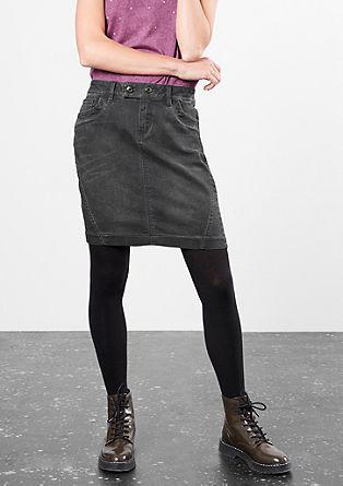 Jeansrock mit Abnähern