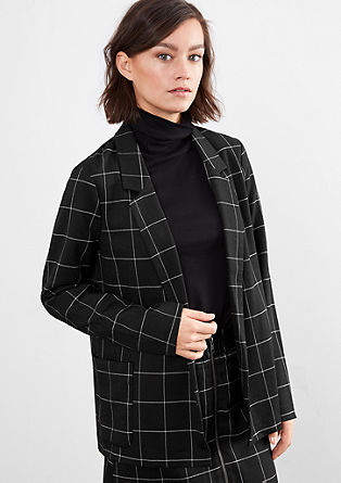 Open blazer with lattice checks from s.Oliver