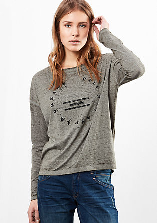 Long sleeve top with black studs from s.Oliver