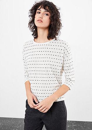 Gepunktetes Shirt mit 3/4-Arm