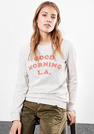 Sweatshirt mit Frottee-Wording