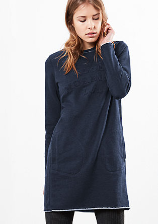 Sweatshirt dress with towelling lettering from s.Oliver