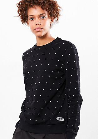 Sweatshirt met stippels