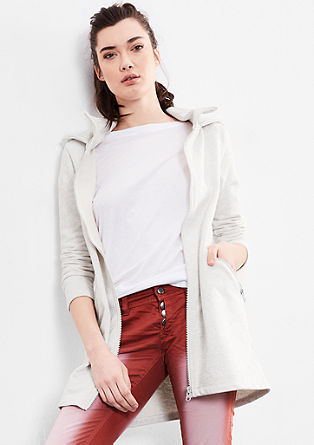 Long sweatshirt jacket from s.Oliver