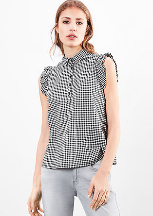 Checked blouse top from s.Oliver