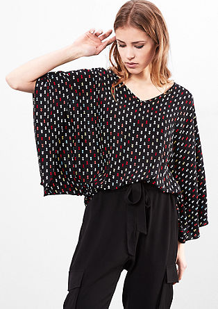 Batwing blouse with a minimalist pattern from s.Oliver