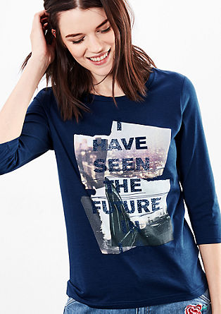 T-shirt with a statement photo print from s.Oliver