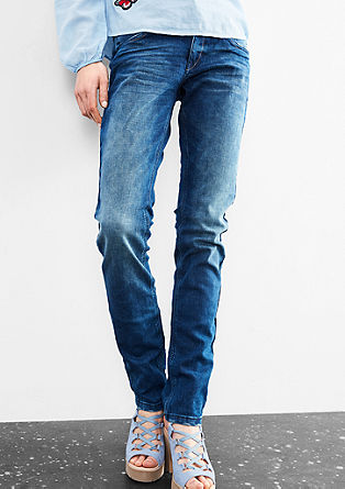 Catie Slim: Jeans with zip pockets from s.Oliver