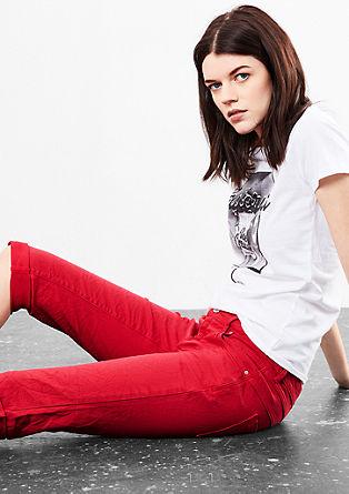 Catie Slim: Kurze Colored Denim