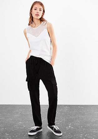 Crêpe trousers in a boyfriend style from s.Oliver
