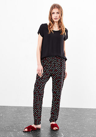 Casual trousers with an all-over pattern from s.Oliver