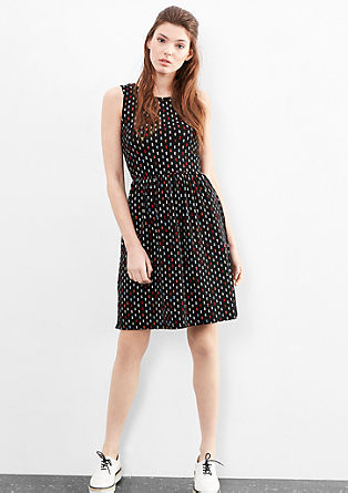 Jersey dress with an all-over pattern from s.Oliver