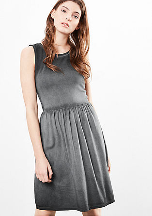 Jersey dress with a washed effect from s.Oliver
