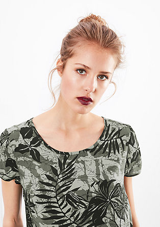 Blouse met print all-over