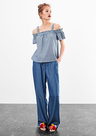 Off-the-shoulder blouse from s.Oliver