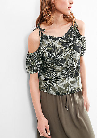 Blouse top with cut-out from s.Oliver
