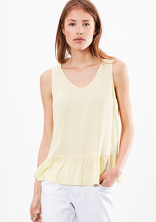 Blouse top with a peplum from s.Oliver